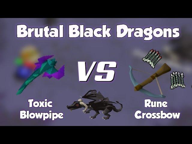 Blowpipe Or Crossbow For Brutal Black Dragons Osrs Brutal