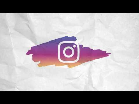 Brush Stroke Social media Icons - Instagram / free motion graphics