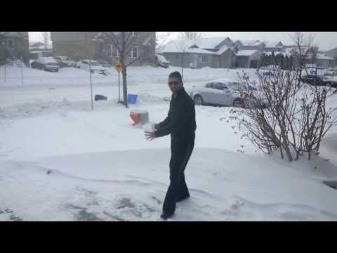 Hot water converts into snow instantaneously at minus 42 degrees in Canada.