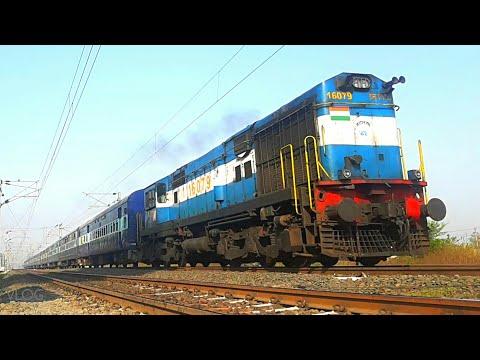 ET WDM3A Chugging & Acceleration,51671 Itarsi Satna Fast Passenger #IndianRailways