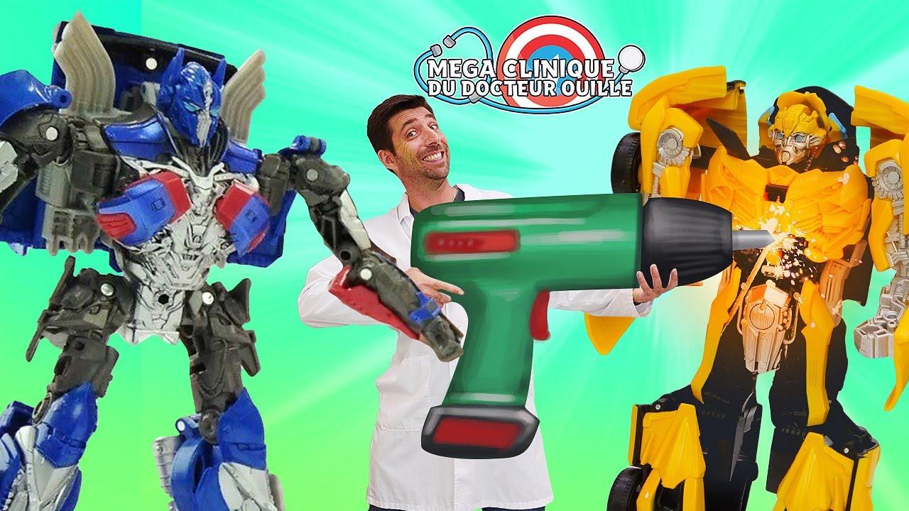 Transformers ont besoin du Docteur Ouille? Vidéos avec les super-héros et autres jouets pour enfants