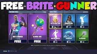 *NEW* Fortnite HOW TO GET BRITE GUNNER SKIN FOR FREE! - SKIN GIVEAWAY