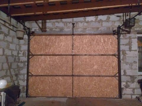 Подъемные ворота для гаража своими руками чертежи видео