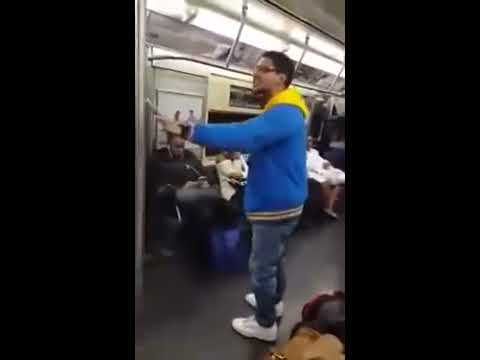 Young Man Preaching The Gospel at New York Subway