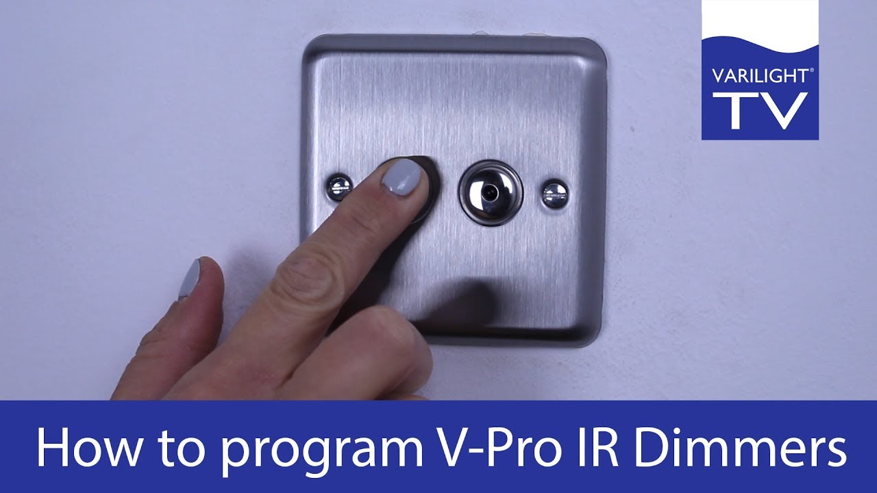 How To Program Varilight V Pro Ir Dimmers Youtube Wiring Instructions