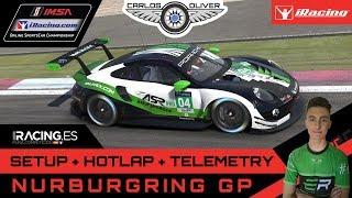 iRacing Hotlap @Nürburgring G.P | Porsche 911RSR | setup+telemetry 1:51,177 Salva Talens