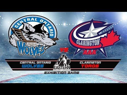 Exhibition Game Central Ontario Wolves vs Clarington Toros Novice AAA Aug 20 17