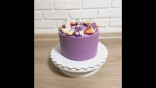 Выравниваем торт // Покрытие крем чиз на сливках