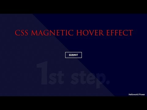 HTML, CSS HOVER EFFECTS || BUTTON HOVER || MAGNETIC HOVER thumbnail