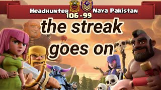 Headhunter vs Naya Pakistan | win streak 7 | war recap | best of | TH 12 | COC clash of clans 2018