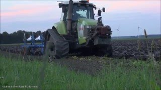 Amazing Agricultural machine - Claas Challenger 55 - ploughing | Flevopolder (Holland)