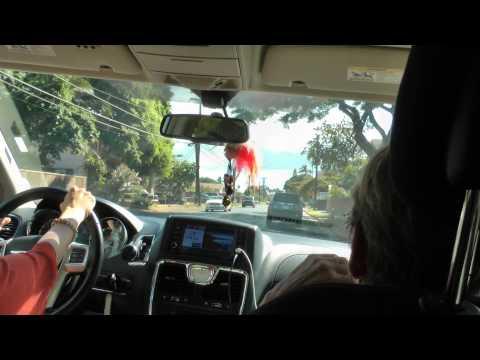 driving through Kihei, Maui, Hawaii on South Kihei Road 1080p