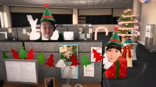 クリスマスバージョン^_−☆ ミッキーパパ&ひょんこ&孫3人で楽しく踊った...
