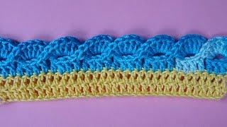 Кайма крючком   Crochet border   Вязание каймы   355 урок