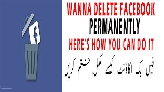 how to delete your facebkook account permanently 2018