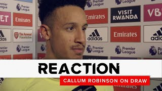 Callum Robinson | Arsenal v Sheffield United | Reaction interview