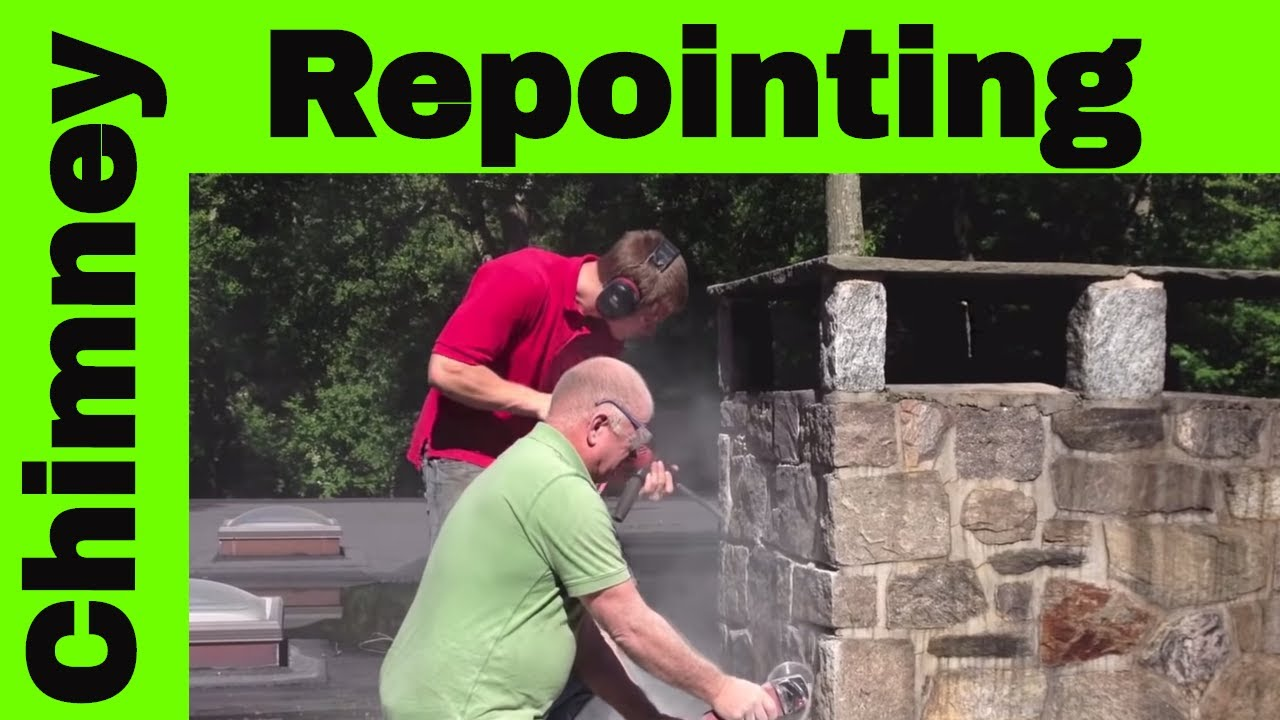 chimney re pointing how to remove cement grout youtube. Black Bedroom Furniture Sets. Home Design Ideas