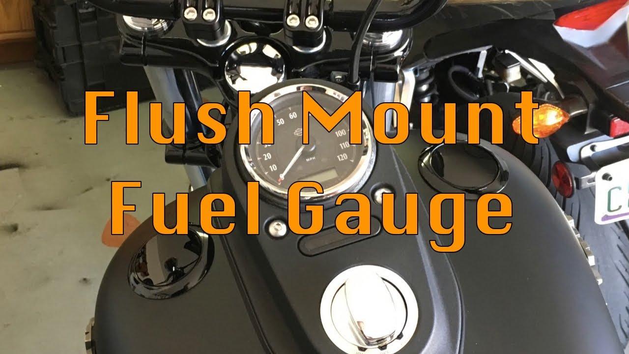 Harley Davidson Flush Mount Fuel Gauge - 2014 Street Bob on