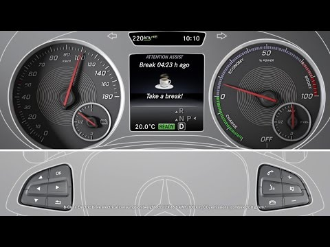 B class electric drive attention assist mercedes benz for Mercedes benz attention assist