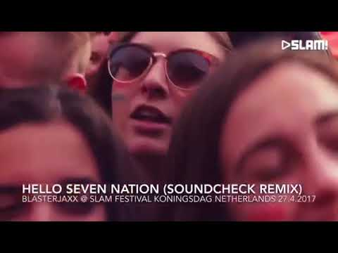 "Blasterjaxx plays ""Hello Seven Nation - SOUNDCHECK Remix"" at Slam Festival, Netherlands"