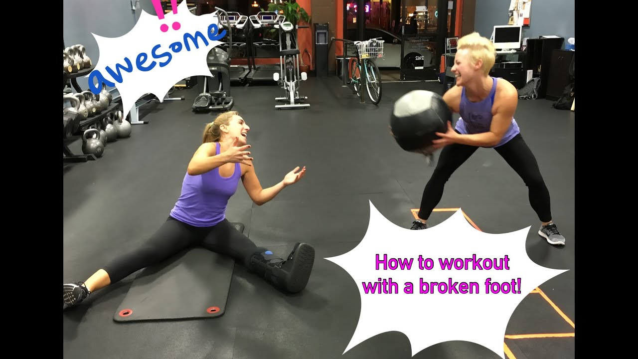 How to Exercise with a Broken Foot