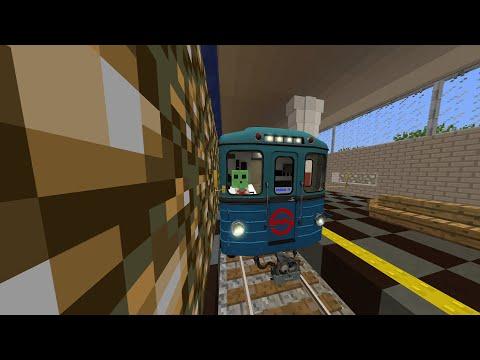 МЕТРО В МАЙНКРАФТ НА ЕЖ-3 по всей линии 2  //big Subway In Minecraft//