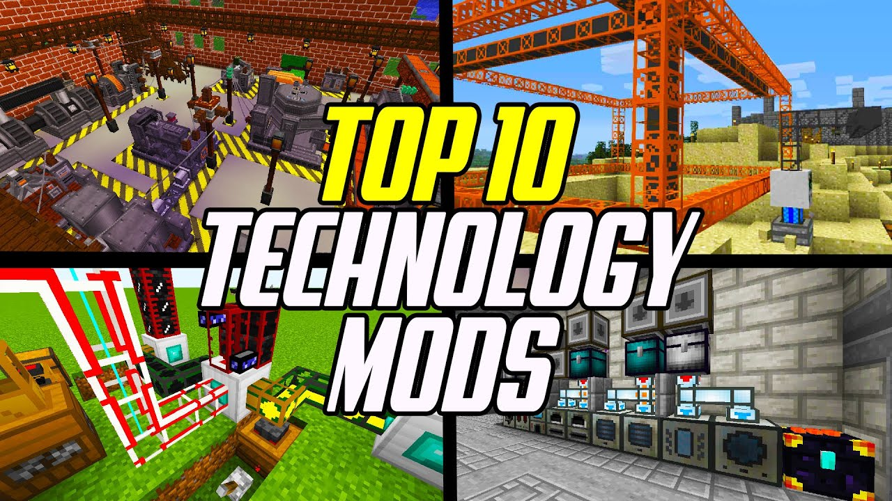Top 10 Minecraft Technology Mods Factory Energy Processing Transport Youtube