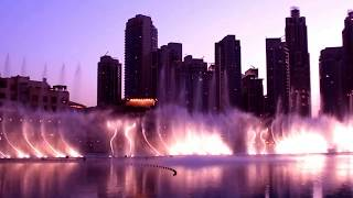 Dubai Mall Water Fountain Show.