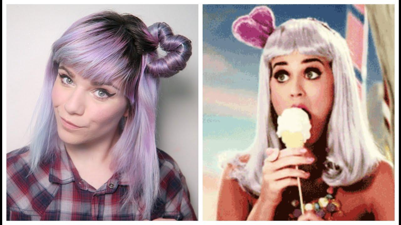 Katy Perry Hair Styles: Katy Perry Heart Hair Inspiration - YouTube