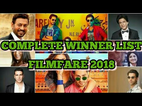 Complete Winner List Of 63rd Jio Filmfare Award 2018 By Top SillyBolly
