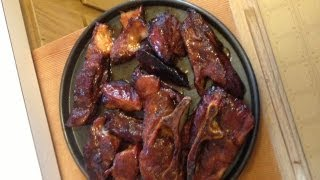 Smoked Country Style Ribs Sauced With Peach Ghost Pepper Glaze By James W