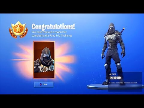 *NEW* ROAD TRIP SKIN REWARD In Fortnite! ENFORCER SKIN GAMEPLAY! (Fortnite Road Trip Skin Gameplay)