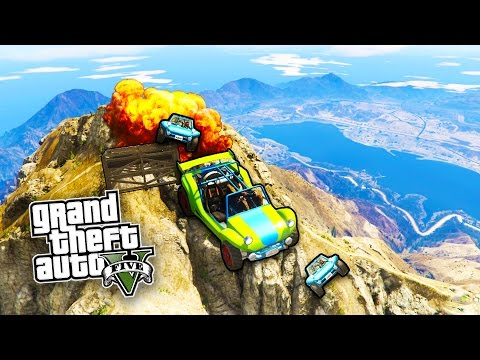 GTA 5 EPIC Bike Parkour Skill Tests, MEGA Jumps, Stunts & MO