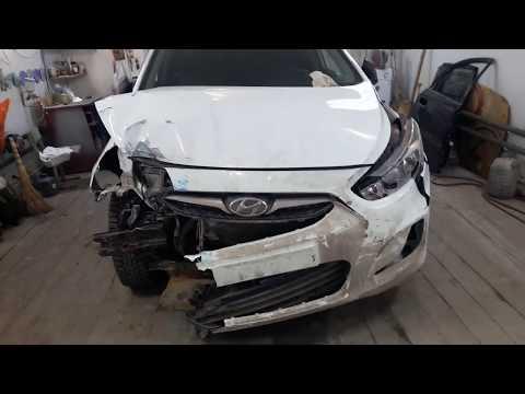 Кузовной ремонт Hyundai Solaris. Часть1