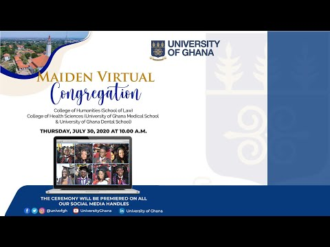 University of Ghana - July 2020 Virtual Congregation