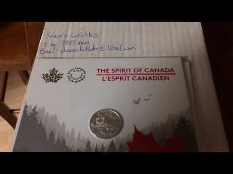 Mail Day! Royal Canadian mint silver coins! Heart of our nation and The Spirit of Canada!
