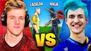 Lachlan VS Ninja In Fortnite Battle...
