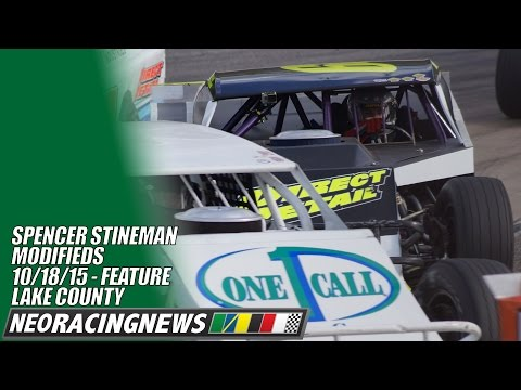 Spencer Stineman Modified Feature @ Lake County - 9/18/15 - NEO Racing News