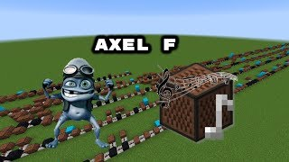 Minecraft: Axel F - Crazy Frog with Note Blocks