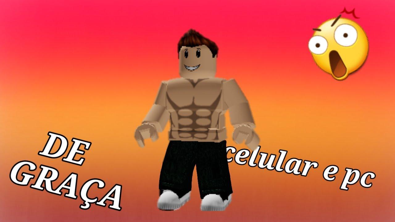 Tanquinho Roblox Como Ter Musculos No Roblox De Graca Celular E Pc Youtube