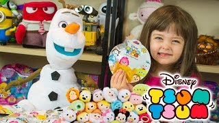 Disney TSUM TSUM Blind Bags Surprise Toys with Olaf from Frozen Kinder Playtime