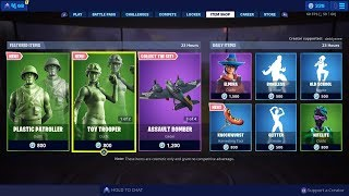 Fortnite New Item Shop The Toys Story Skins