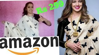 Amazon shopping haul & review ! Amazon clothing haul ! Amazon saree review rs 299