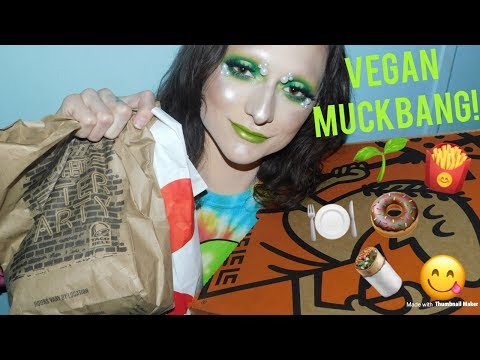 BIG VEGAN MUCKBANG! (Taco Bell, ENDless bakery, Chick fil a, Little ceasers) | Pink Diamond