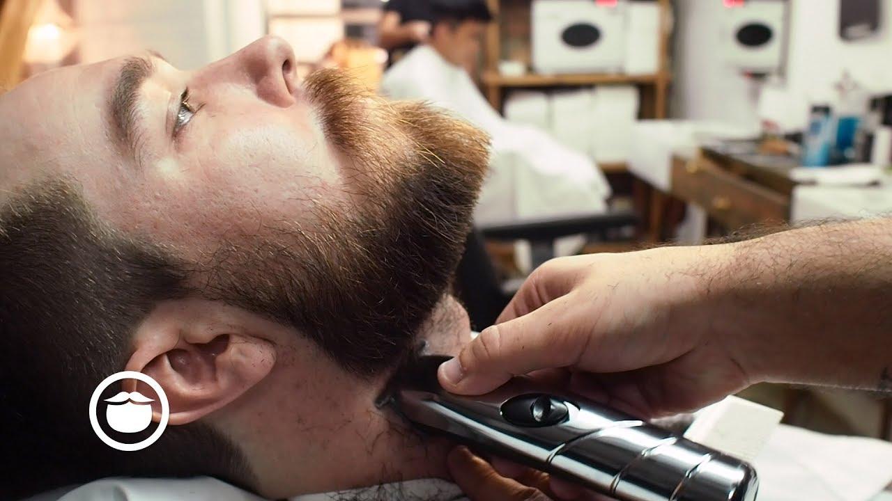 Shaggy To Sharp With A Haircut Beard Trim At Barbershop Youtube