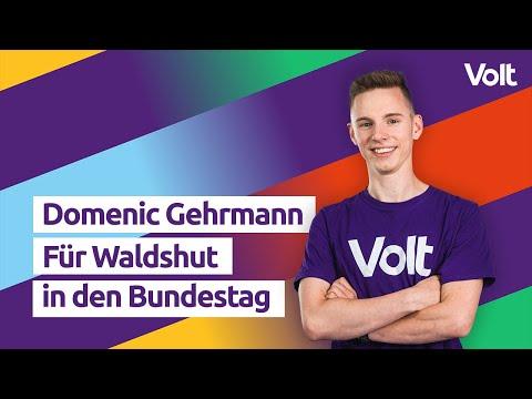 YouTube: Domenic Gehrmann für euch in den Bundestag