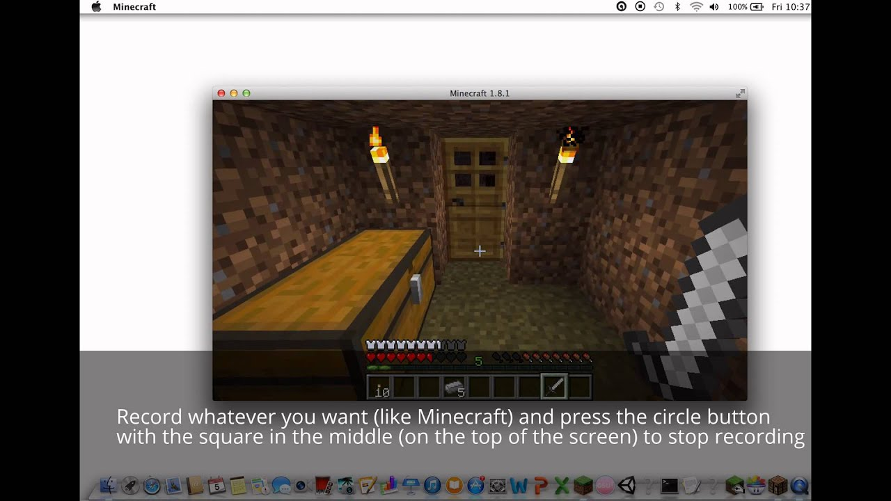 best minecraft screen recorder free no lag mac