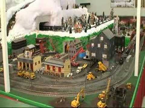 Lionel & MTH trains and animated industrial area
