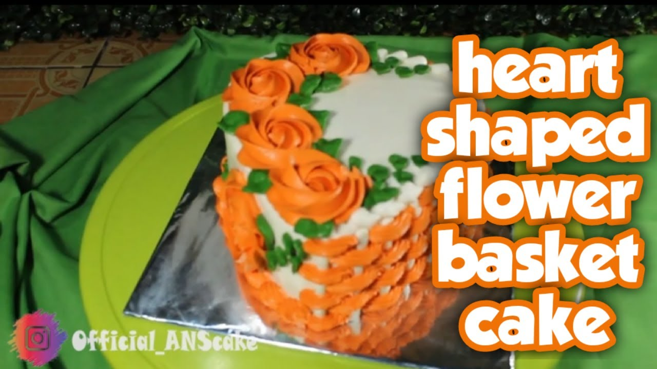 HEART SHAPED CAKE DECORATION || KUE ULANG TAHUN BENTUK ...