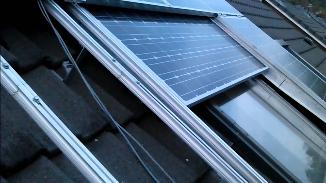 Automatic Sun Screen With Sliding Solar Panels For Roof
